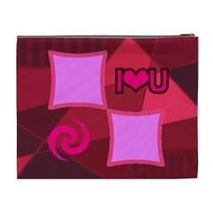 I Love You Mom Xl Cosmetic Bag By Birkie   Cosmetic Bag (xl)   Kpb6gprkqbb7   Www Artscow Com Back