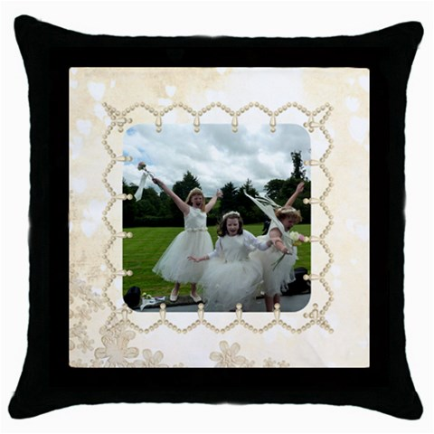 Pearl Border Cushion Cover By Catvinnat   Throw Pillow Case (black)   0ef7po28fy6g   Www Artscow Com Front