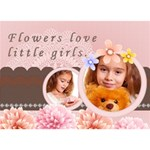 girl - GIRL 3D Greeting Card (7x5)