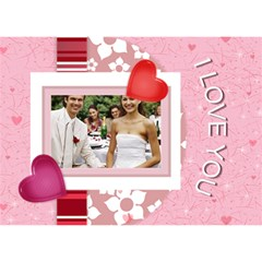 Love Of Wedding By Joely   Love 3d Greeting Card (7x5)   3xwlvxwgfxyk   Www Artscow Com Front