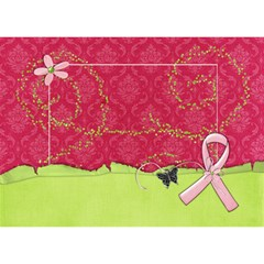 #1 Breast Cancer Awareness Ribbon 3d Card (8x4) By Mikki   Ribbon 3d Greeting Card (7x5)   A2chstcfl7qd   Www Artscow Com Front