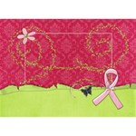 #1 Breast Cancer AWARENESS RIBBON 3D Card (8x4) - Ribbon 3D Greeting Card (7x5)