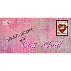 Special Delivery Envelope You re The One For Me Twin Heart  3d Card By Ellan   Twin Hearts 3d Greeting Card (8x4)   M3bc3npfiqgv   Www Artscow Com Front