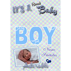Special Delivery   It s A Boy 3d Card By Ellan   Boy 3d Greeting Card (7x5)   Nbwj9w0pwyo1   Www Artscow Com Inside