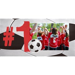 #1 Dad 3d Card (8x4) Soccer, Football By Mikki   #1 Dad 3d Greeting Card (8x4)   A2n53fe4p4nm   Www Artscow Com Front