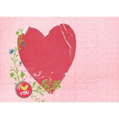 Love Bottom 3d Card (7x5) By Mikki   Love Bottom 3d Greeting Card (7x5)   G99v9i88uzah   Www Artscow Com Back