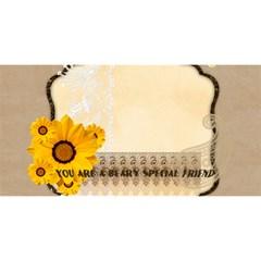 Best Friend By Joely   Best Friends 3d Greeting Card (8x4)   G0y5leicxfff   Www Artscow Com Front