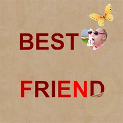 Best Friend By Joely   Best Friends 3d Greeting Card (8x4)   G0y5leicxfff   Www Artscow Com Inside
