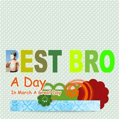 Best Bro By Joely   Best Bro 3d Greeting Card (8x4)   47rlvfilenc5   Www Artscow Com Inside