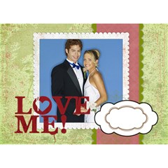 Love Me By Joely   Circle 3d Greeting Card (7x5)   Dh60xplhygw3   Www Artscow Com Front