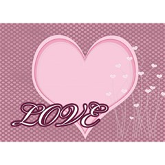 Love  By Joely   Ribbon 3d Greeting Card (7x5)   Dgux1z69ob63   Www Artscow Com Front