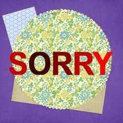 Sorry By Joely   Sorry 3d Greeting Card (8x4)   Kpgqiz120a4e   Www Artscow Com Inside
