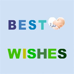 Best Wish By Joely   Best Wish 3d Greeting Card (8x4)   U60vc1kg84li   Www Artscow Com Inside