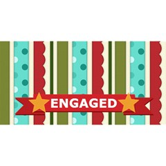 Engaged By Joely   Engaged 3d Greeting Card (8x4)   8wy8ustcnr9q   Www Artscow Com Front