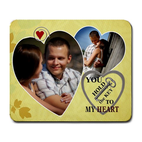 Key To My Heart Mousepad By Lil    Large Mousepad   O2j131axltwd   Www Artscow Com Front