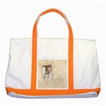 angelic two tone tote bag