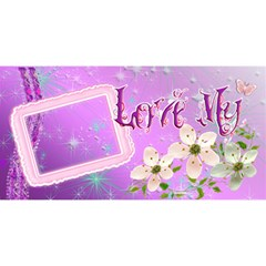 Love My #1 Mom 3d Card By Ellan   #1 Mom 3d Greeting Cards (8x4)   Gykcj839auxv   Www Artscow Com Front