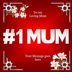 Love You Mum 3d Card By Deborah   #1 Mom 3d Greeting Cards (8x4)   3tznjk6swv9t   Www Artscow Com Inside