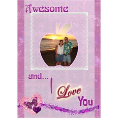 You re Perfect I Love You 3d Apple Card By Ellan   Apple 3d Greeting Card (7x5)   W7loxwurnbnq   Www Artscow Com Inside