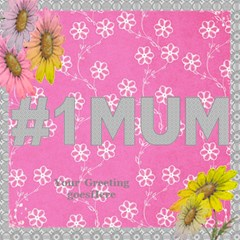 Pink And Grey 3d No 1 Mum Card By Deborah   #1 Mom 3d Greeting Cards (8x4)   Oks5res5tjxr   Www Artscow Com Inside