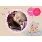Baby Girl Announcement 3d Card - GIRL 3D Greeting Card (7x5)