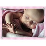 photo front Girl 3D Card - GIRL 3D Greeting Card (7x5)