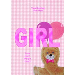 Photo Front Girl 3d Card By Deborah   Girl 3d Greeting Card (7x5)   Camnyp1evz9p   Www Artscow Com Inside