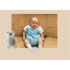 Baby Boy Announcement 3d Card By Deborah   Boy 3d Greeting Card (7x5)   Wcgffuz7f41j   Www Artscow Com Back