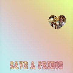 Save A Prince, Kiss A Frog By Patricia W   Happy Birthday 3d Greeting Card (8x4)   9xpznnzou3n0   Www Artscow Com Inside