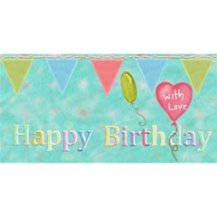 Happy Birthday Card By Lillyskite   Happy Birthday 3d Greeting Card (8x4)   1w8j7zda5n6v   Www Artscow Com Front