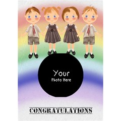 Congratulations By Lillyskite   Circle Bottom 3d Greeting Card (7x5)   I8xg41dth7y3   Www Artscow Com Inside