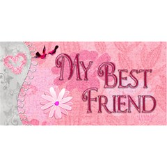 My Best Friend   My Mom Flower 3d Card By Ellan   Mom 3d Greeting Card (8x4)   Rtqu2c1uqcc2   Www Artscow Com Front