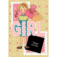 Girl By Lillyskite   Girl 3d Greeting Card (7x5)   Q9q2llaqkde3   Www Artscow Com Inside