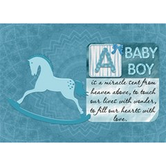 Baby Boy 3d Card By Lil    Boy 3d Greeting Card (7x5)   9de3agyxio1p   Www Artscow Com Front