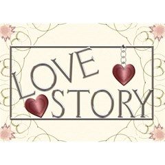 Love Story 3d Card By Lil    Heart Bottom 3d Greeting Card (7x5)   73rf4v04kwv4   Www Artscow Com Front