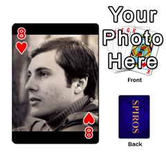 Spiros Cards By Marka20300   Playing Cards 54 Designs   3lnj5g2c0iod   Www Artscow Com Front - Heart8