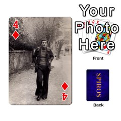 Spiros Cards By Marka20300   Playing Cards 54 Designs   3lnj5g2c0iod   Www Artscow Com Front - Diamond4