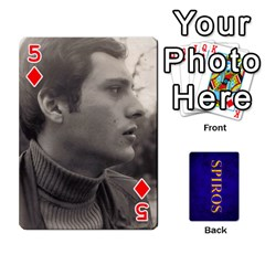 Spiros Cards By Marka20300   Playing Cards 54 Designs   3lnj5g2c0iod   Www Artscow Com Front - Diamond5