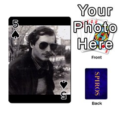 Spiros Cards By Marka20300   Playing Cards 54 Designs   3lnj5g2c0iod   Www Artscow Com Front - Spade5