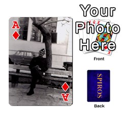 Ace Spiros Cards By Marka20300   Playing Cards 54 Designs   3lnj5g2c0iod   Www Artscow Com Front - DiamondA