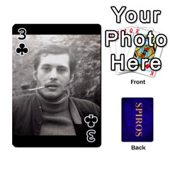 Spiros Cards By Marka20300   Playing Cards 54 Designs   3lnj5g2c0iod   Www Artscow Com Front - Club3