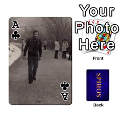 Ace Spiros Cards By Marka20300   Playing Cards 54 Designs   3lnj5g2c0iod   Www Artscow Com Front - ClubA