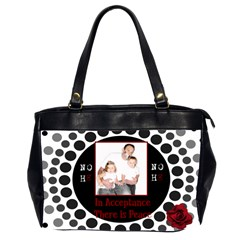 Noh8 Peace Purse By Jodi   Oversize Office Handbag (2 Sides)   Xp6pgrwrftpt   Www Artscow Com Front