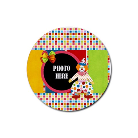 Carnival Round Magnet 1 By Lisa Minor   Rubber Round Coaster (4 Pack)   7a2hnwmr8om7   Www Artscow Com Front