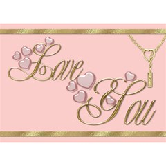 I Love You 2 3d Card By Deborah   I Love You 3d Greeting Card (7x5)   Nxhfozd7h8ns   Www Artscow Com Front