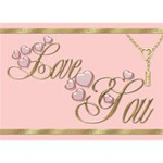 I Love You 2 3D Card - I Love You 3D Greeting Card (7x5)