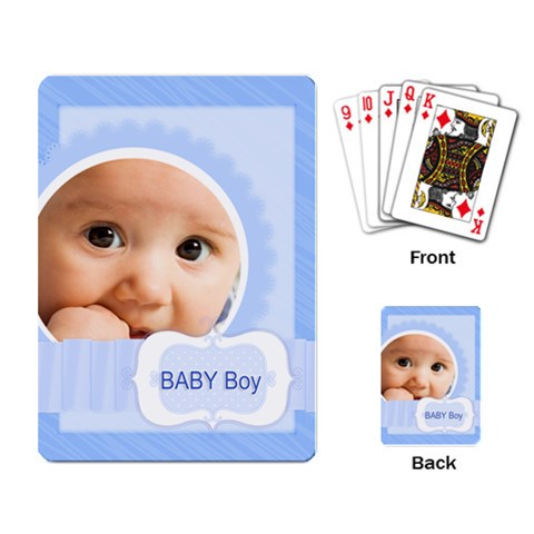 Baby Boy By Joely   Playing Cards Single Design   Cfu2emjetptq   Www Artscow Com Back