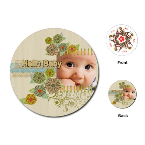 Baby Boy By Joely   Playing Cards (round)   777v1p6ijfis   Www Artscow Com Front
