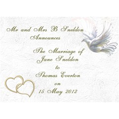 Wedding Invitation 3D Card (7x5) by Deborah Front