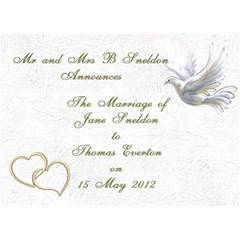 Wedding Invitation 3d Card (7x5) By Deborah   You Are Invited 3d Greeting Card (7x5)   Ts0h3wz00zoo   Www Artscow Com Front